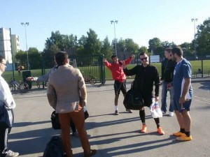 Friendly training game in Kotka against Skype lads