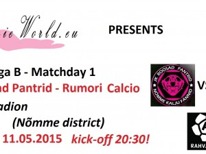 Rahvaliiga: JK Roosad Pantrid vs. Rumori Calcio 5-2 (2-1)